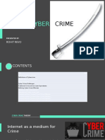 Concept of Cyber Crime and classification of Cyber Crime according to Criminal and Non Criminal Offenses