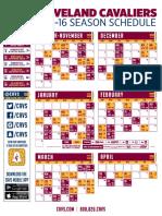 2015 16 Cavaliers Schedule