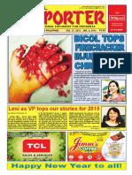 Bikol Reporter December 27 - January 2, 2016 Issue
