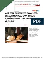 Decreto Del Carmonzo