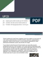 UFCD 26, 28, 29