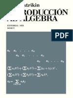 Introduccion Al Algebra [A. I. Kostrikin]