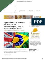 Glossário Português_Inglês de Termos de Engenharia Civil