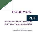Programa Cultura Comunicacion Podemos