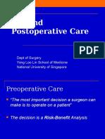 Pre and Postoperative Care