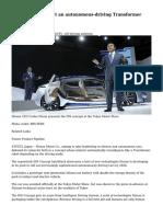 Nissan IDS Concept an autonomous-driving Transformer