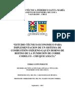 Estudio Tecnico Economico Implementacion Sistema de combustion oxigeno gas natural en horno de refino anodico