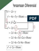 Sistem Persamaan Diperensial