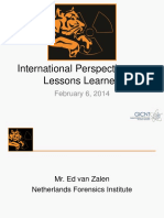 International Perspectives on Lessons Learned