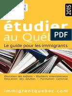 Étudier Au Québec 2015