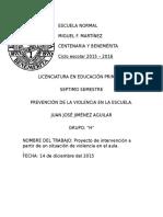 PREVENCIÓN DE LA VIOLENCIA EN LA ESCUELA.