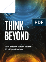 Intel STS semifinalists 2016