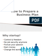 Seminar PPT How to Prepare a Business Plan1