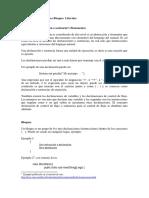 Modulo 4. Declaraciones Bloques Literales