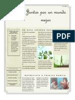 Boletin informativo sobre desarrollo sustentable