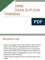Mekanisme Perbedaan Slip Dan Twinning