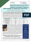 Maintenance Planning Training