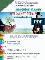 HCA 270 Apprentice tutors/snaptutorial