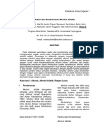 Reaksi dan Karakterisasi Alkohol Alifatik
