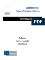 5 Academic Writing 1 SentenceStructure and Grammar