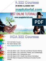 HCA 322 Apprentice tutors/snaptutorial