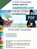 HCA 340 Apprentice tutors/snaptutorial