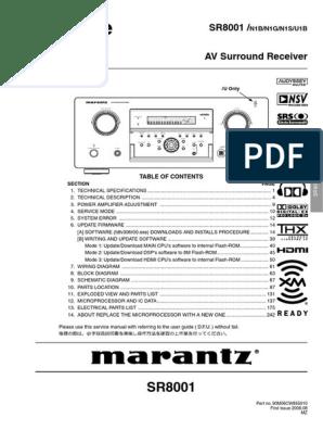 Marantz SR8001  pdf | Sound | Sound Production