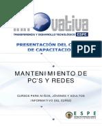 Mantenimiento de Pcs y Redes