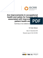 164 Are improvements in occupational health and safety for hospital staff associated with improvements in patient health and safety?
