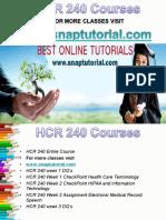 HCR 240 Apprentice tutors/snaptutorial