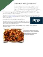 Resep Cara Menghasilkan Ayam Bakar Spesial Kalasan