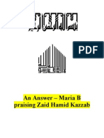 An Answer - Maria B Praising Zaid Hamid Kazzab