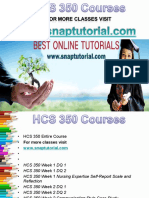 HCS 350 Apprentice tutors/snaptutorial