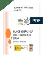 Balance General de La Bicicleta Publica ESPAÑA