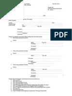 formulir pengajuan rekomendasi