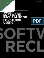 1E's Sample Software Reclaim Model for 50,000 Users