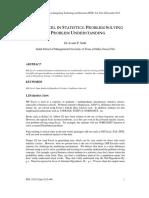 Use of Excel in Statistics Problem Solving vs Problem Understanding