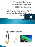 PPE, Safety Device and Safety Equipment (Indonesian version)