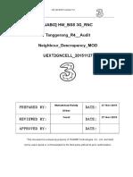 [JABO] HW BSS 3G RNC Tanggerang R4 Audit Neighbour Descrapancy MOD UEXT2GNCELL 20151127