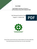 Materi Pelatihan ToT Semarang 16-17 Oktober 2015