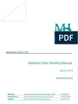 Methanol Safe Handling Manual Final English (2) | Methanol