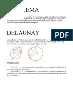 Delaunay Triangulacion