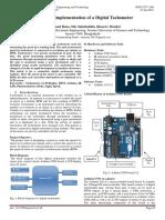 Design and Implementation of a Digital Tachometer