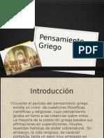 Pensamiento Griego (2)