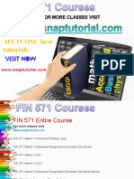 FIN 571 Academic Success /snaptutorial