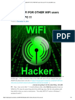 Disable WIFI for OTHER WIFI Users From Your PC !!!