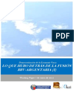Democratizacion de la Economia Vasca. LO QUE HUBO DETRAS DE LA FUSION BBV ARGENTARIA I