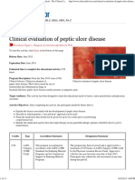 Clinical Evaluation Peptic Ulcer Disease