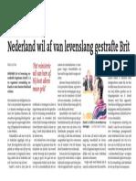 Nederland wil af van levenslang gestrafte Brit