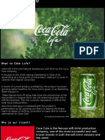 coca-cola life advert proposal